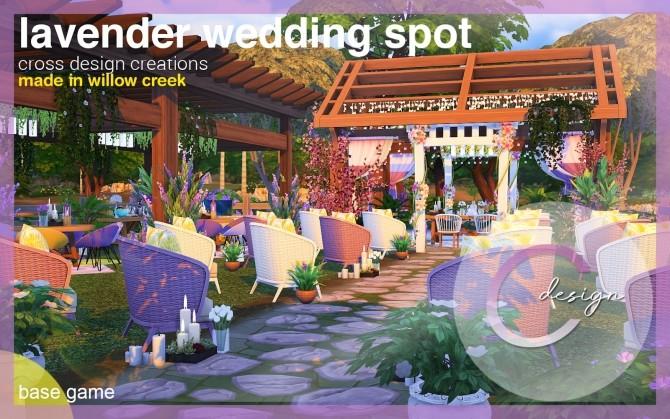 Sims 4 Lavender Wedding Spot by Praline at Cross Design