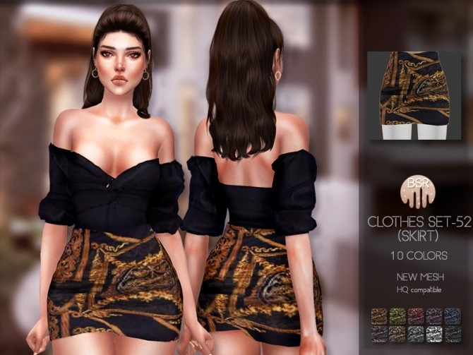 Sims 4 Clothes SET 52 (SKIRT) BD205 by busra tr at TSR