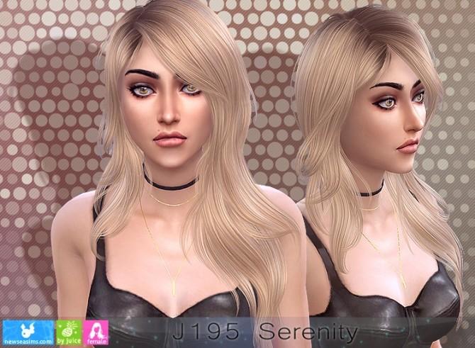 J195 Serenity hair (P) at Newsea Sims 4 image 11021 670x491 Sims 4 Updates
