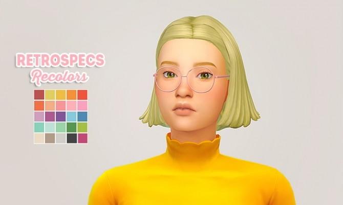Sims 4 Retrospecs recolors at Lina Cherie