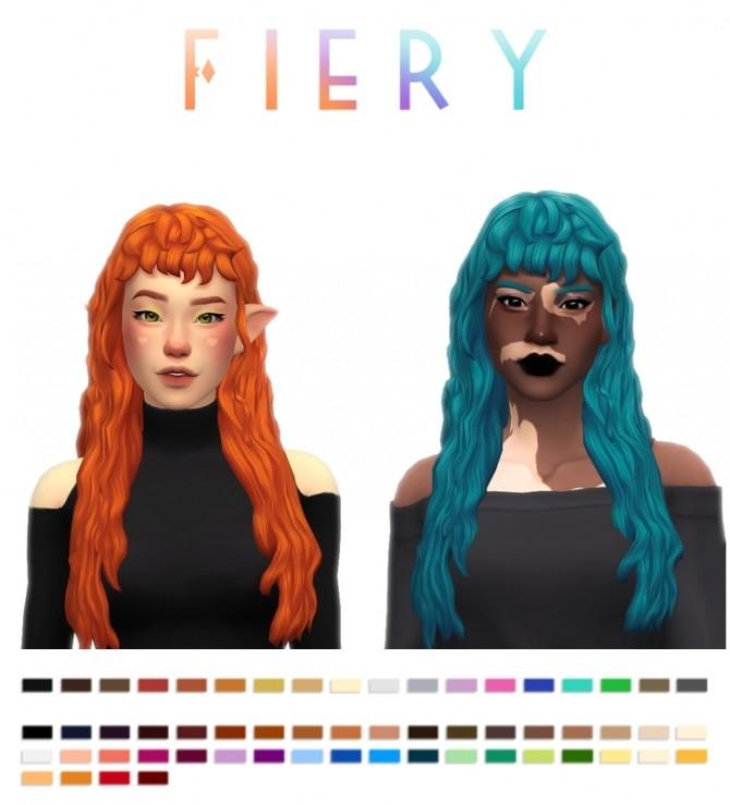 Sims 4 Fiery hair at Simandy