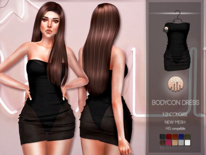 Sims 4 Bodycon Dress BD209 by busra tr at TSR