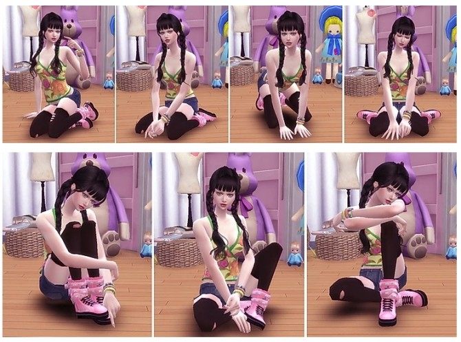Combination Pose 41 at A luckyday image 11516 670x497 Sims 4 Updates