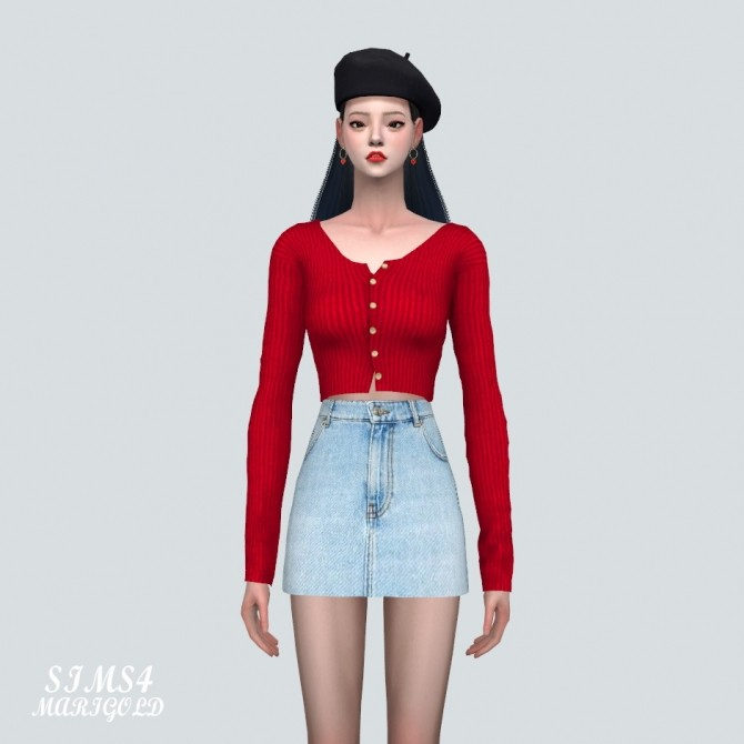 Sims 4 B Crop Cardigan at Marigold