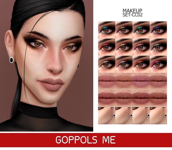 GPME GOLD MAKEUP SET CC02 at GOPPOLS Me image 1153 670x586 Sims 4 Updates