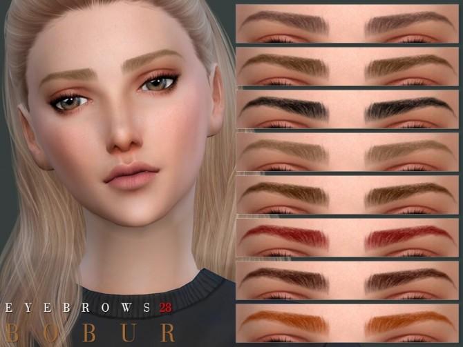Sims 4 Eyebrows 28 by Bobur3 at TSR