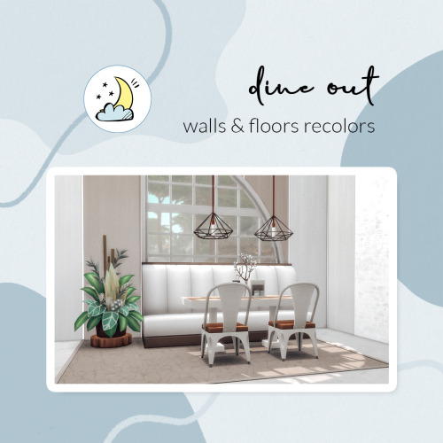 Sims 4 Dine out wall & floor recolors at Luna Sims