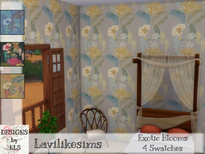 Sims 4 Exotic Blooms wallpapers by lavilikesims at TSR