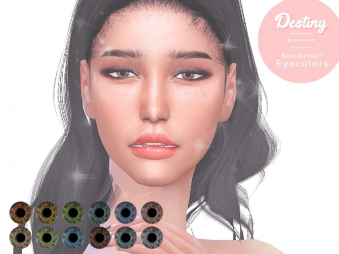 Sims 4 Destiny Non Default Eye Color at Kiminachu CC