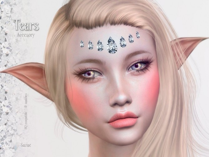 Sims 4 Tears Accesory by Suzue at TSR