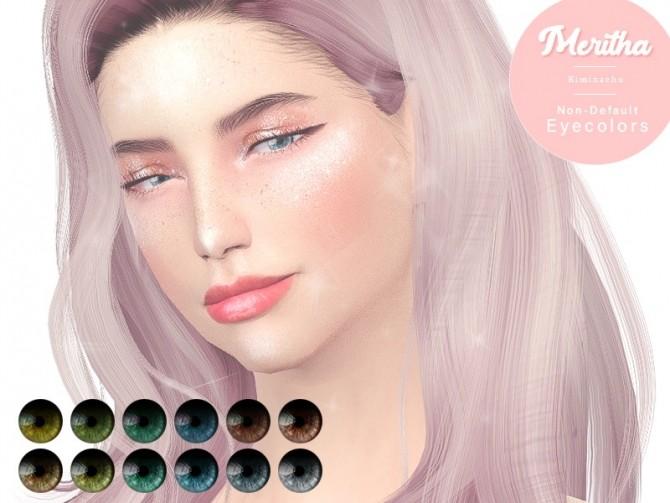 Sims 4 Meritha Non Default Eye Color at Kiminachu CC