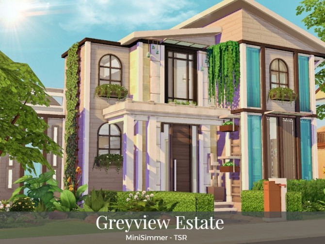 Sims 4 Greyview estate by Mini Simmer at TSR