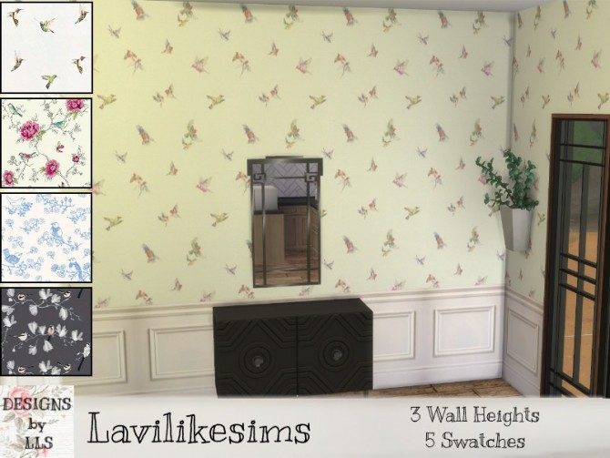 Sims 4 Birds Square Panels by lavilikesims at TSR
