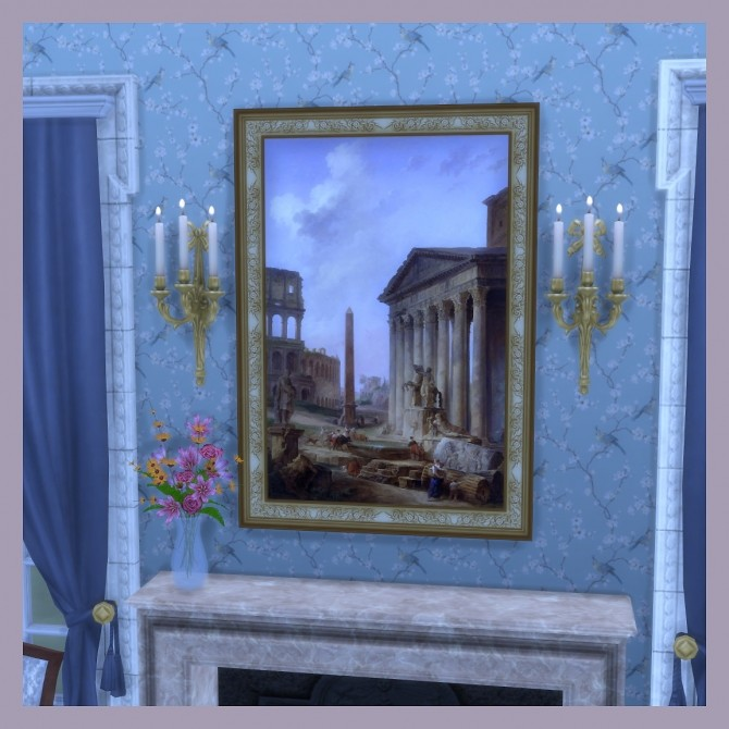 Sims 4 Ruins in Italy paintings by Hubert Robert by DAJSims at Mod The Sims