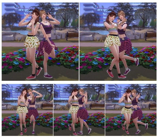 Combination Pose 43 at A luckyday image 12016 670x587 Sims 4 Updates