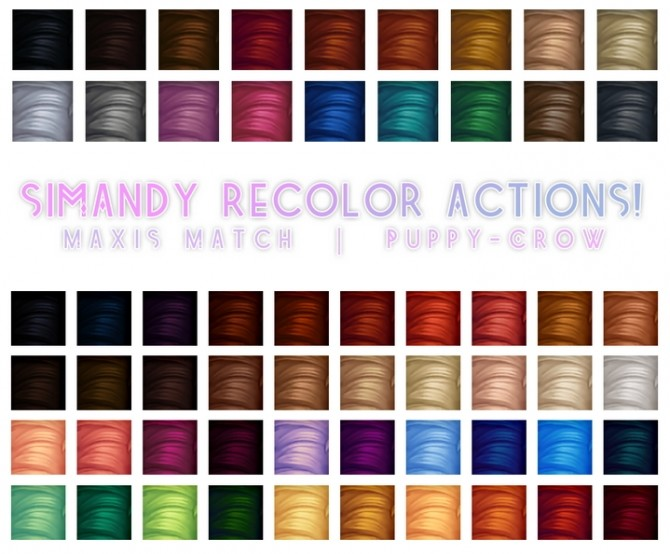 Hair recolor actions at Simandy image 1208 670x554 Sims 4 Updates