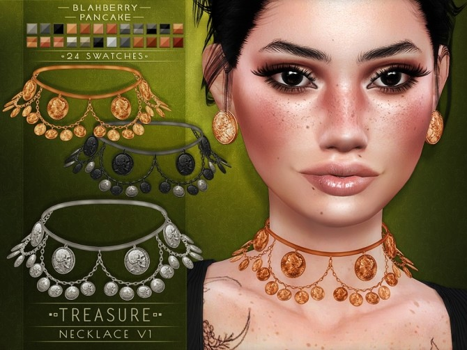 Treasure necklace and earrings at Blahberry Pancake image 1209 670x503 Sims 4 Updates