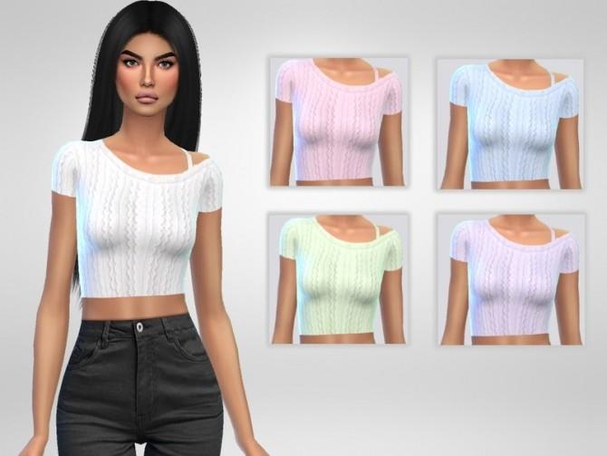 Sims 4 Natali Top by Puresim at TSR