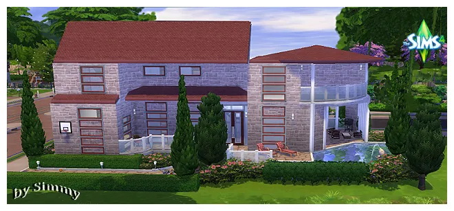 Modern house by Simmy + dining chair by Oldbox at All 4 Sims image 12124 Sims 4 Updates