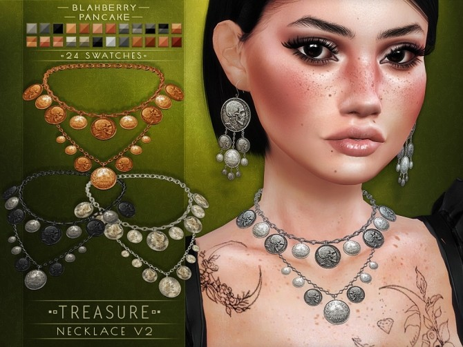 Treasure necklace and earrings at Blahberry Pancake image 12211 670x503 Sims 4 Updates