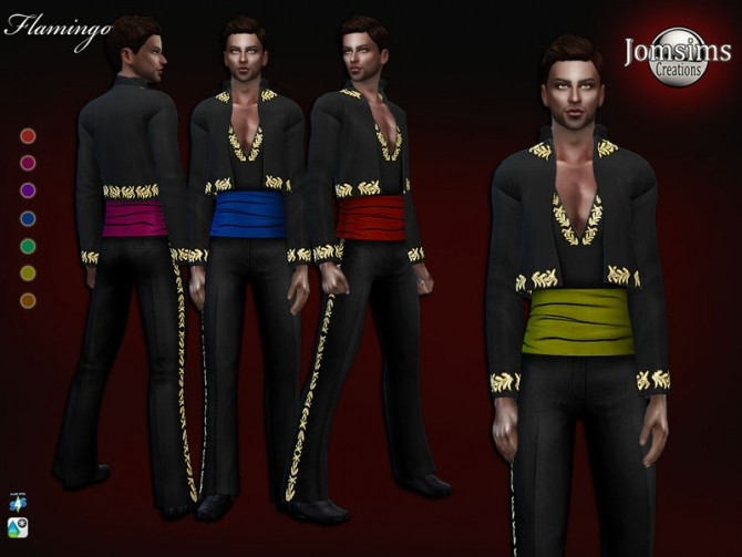Sims 4 Flamingo outfit by jomsims at TSR