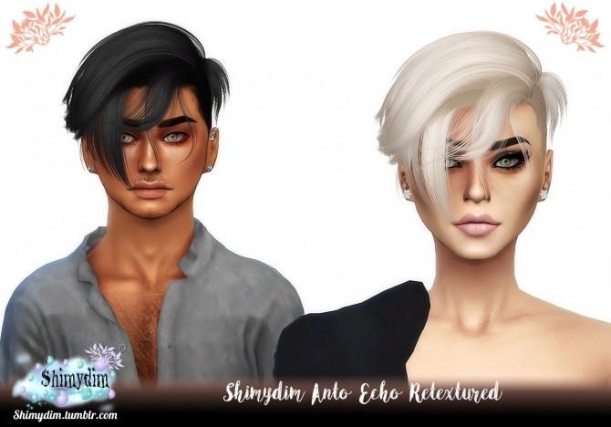 Sims 4 Anto Echo Hair Retexture Naturals + Unnaturals at Shimydim Sims
