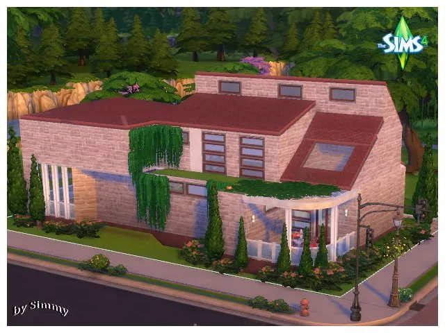 Modern house by Simmy + dining chair by Oldbox at All 4 Sims image 12222 Sims 4 Updates