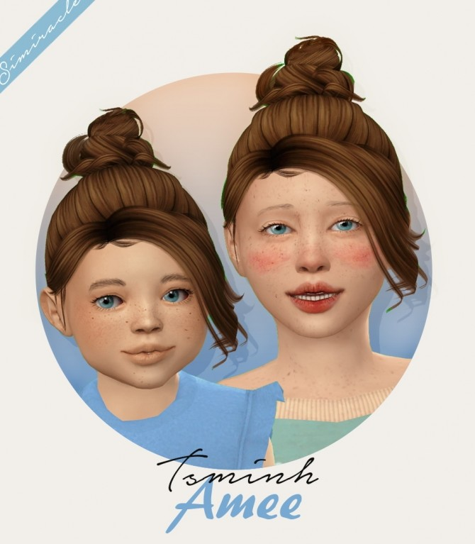 Tsminh Sims Amee hair for kids and toddlers at Simiracle image 12225 670x767 Sims 4 Updates