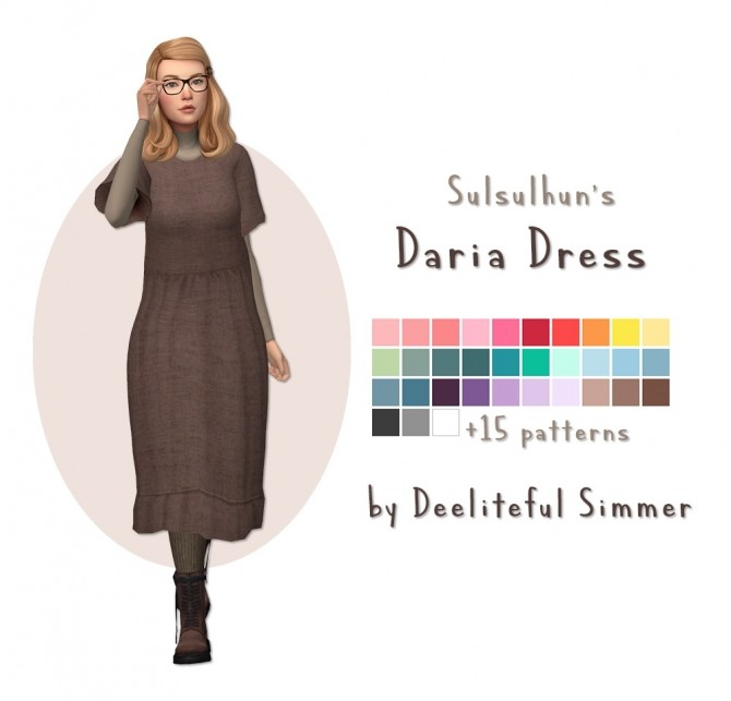 Sims 4 Sulsulhuns Daria dress recolors at Deeliteful Simmer