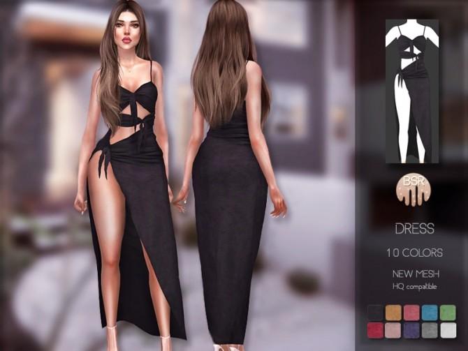 Sims 4 Dress BD201 by busra tr at TSR