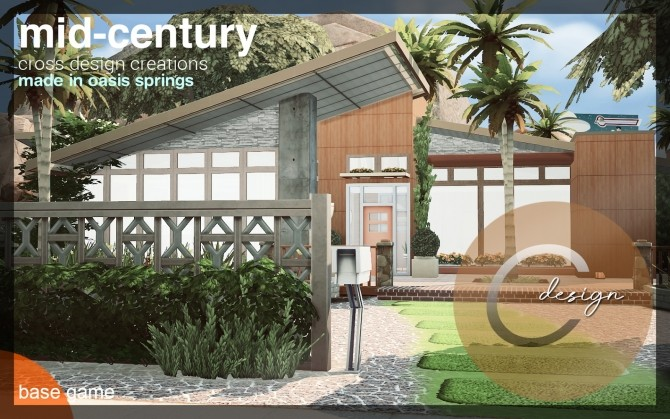 Mid Century home by Praline at Cross Design image 1247 670x419 Sims 4 Updates