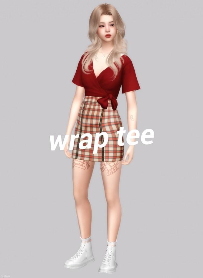 Wrap tee at Casteru image 12619 670x917 Sims 4 Updates