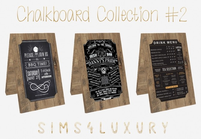Sims 4 Chalkboard Collection #2 at Sims4 Luxury