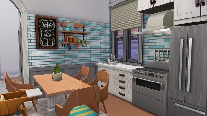 Sims 4 SINGLE MOM W/ 4 KIDS APARTMENT at Aveline Sims