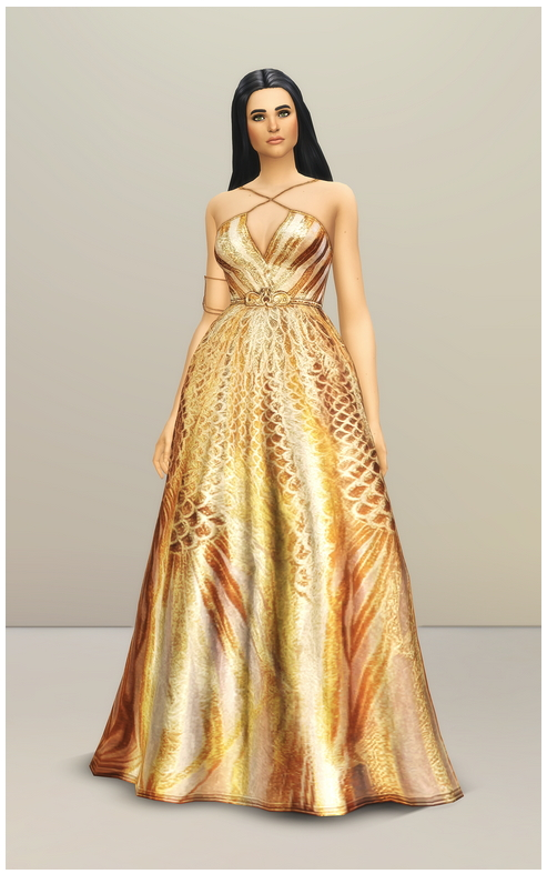Sims 4 SS 2020 Couture Collection I  2 dress at Rusty Nail