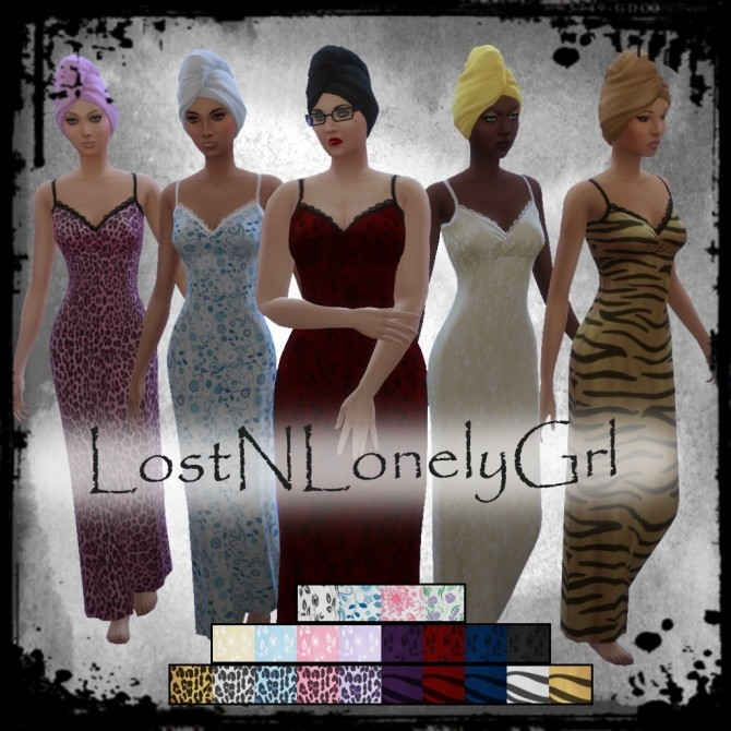 Sims 4 Nightie Collection by LostNlonelyGrl86 at Mod The Sims