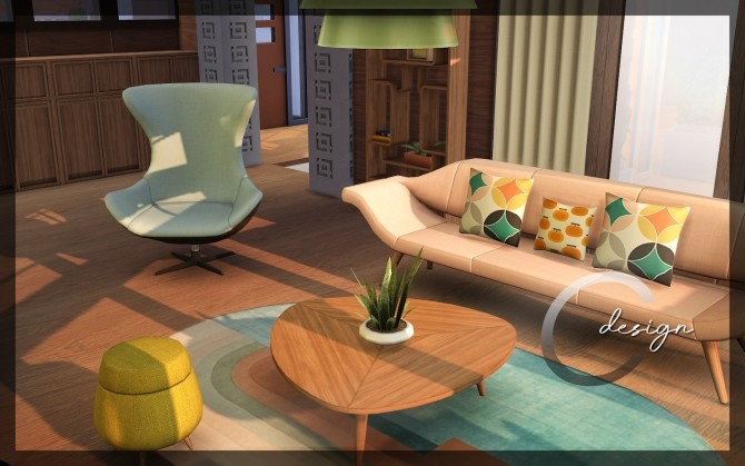 Mid Century home by Praline at Cross Design image 1296 670x419 Sims 4 Updates
