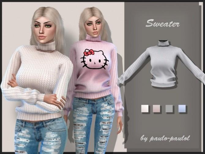 Sims 4 Sweater at Paulo Paulol
