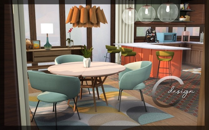Mid Century home by Praline at Cross Design image 1306 670x419 Sims 4 Updates