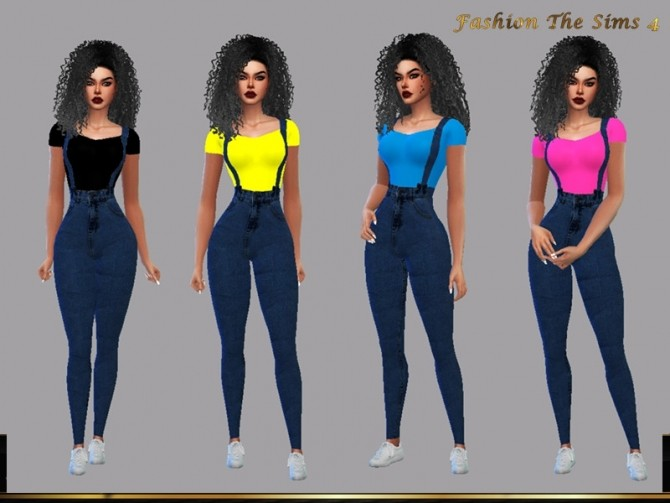 Sims 4 Cassandra Jumpsuit by LYLLYAN at TSR