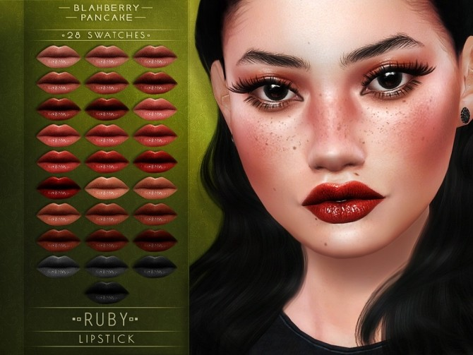 Ruby lipstick at Blahberry Pancake image 13111 670x503 Sims 4 Updates
