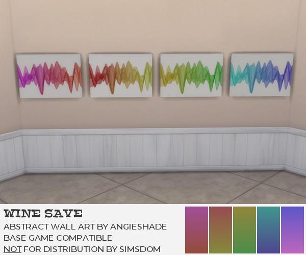 Sims 4 Abstract wall art at AngieShade – Intermittent simblr