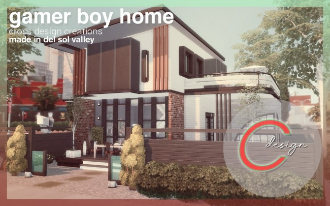 Sims 4 Gamer Boy Home by Praline at Cross Design