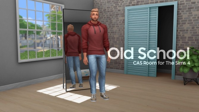 Sims 4 Old School CAS Room by littledica at Mod The Sims