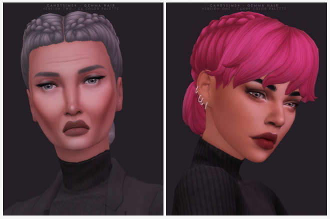 GEMMA HAIR   TWO VERSIONS at Candy Sims 4 image 13317 Sims 4 Updates
