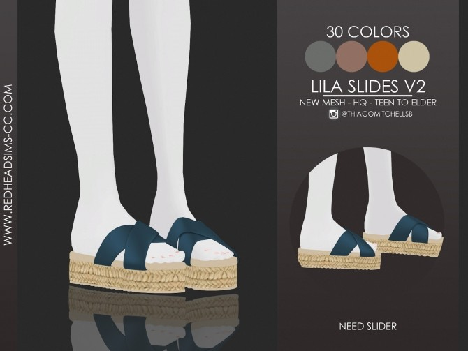 Sims 4 LILA SLIDES by Thiago Mitchell at REDHEADSIMS