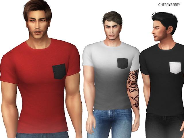 Sims 4 Pocket Mens T shirt at Cherryberry