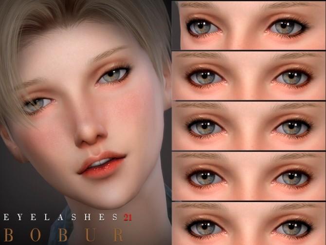 Sims 4 Eyelashes 21 by Bobur3 at TSR