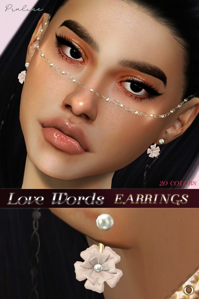 Love words & first love earrings at Praline Sims image 1346 667x1000 Sims 4 Updates