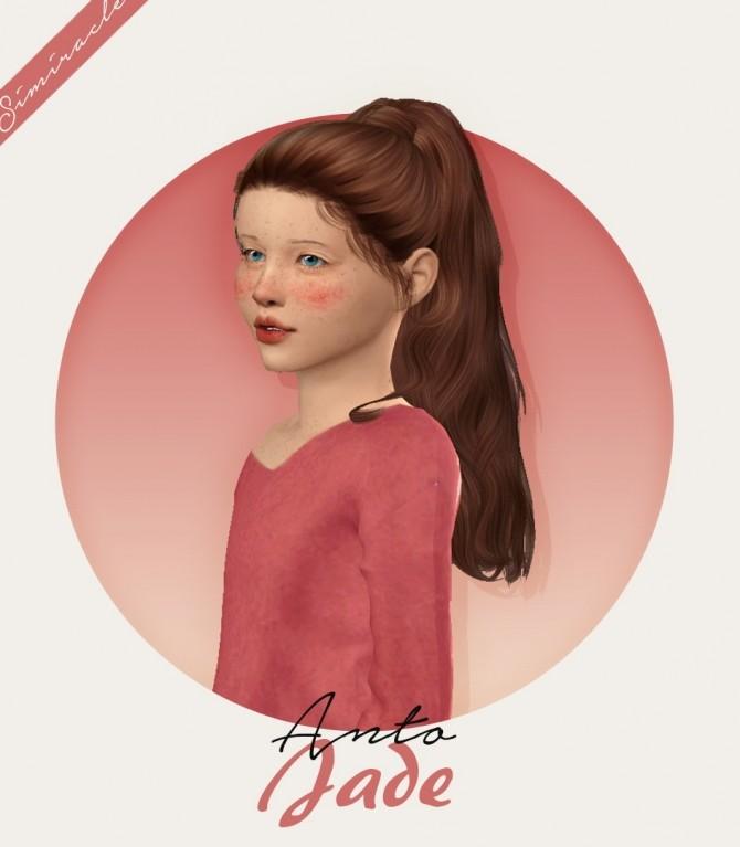 Sims 4 Anto Jade Hair Kids Version at Simiracle